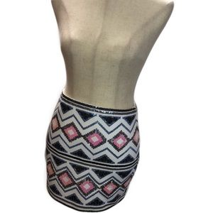Sequence Party Mini Skirt X-small C323